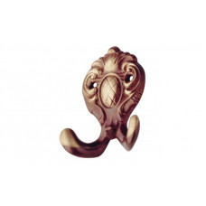 SS-coat hook brass brown  65mm
